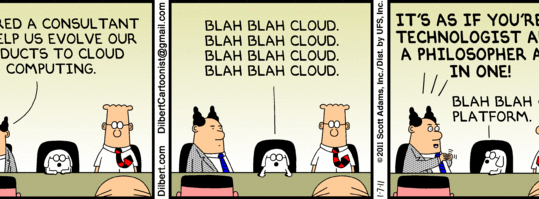 Dilbert and Dogbert know cloud computing