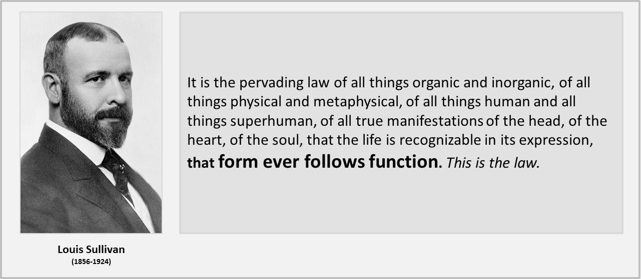 Louis Sullivan - form follows function